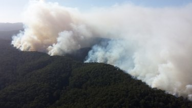 Firefighters continue to battle the Otway fires.