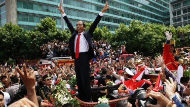 Weak and isolated: Indonesian President Joko Widodo was popular with civil society, but out of favour with the Indonesian elite.