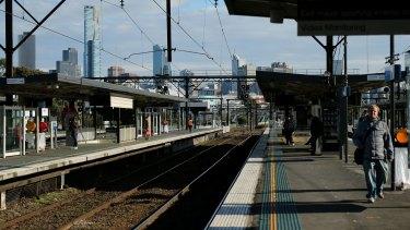 Richmond railway station platform.