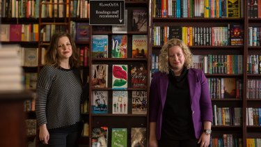 Young adult writers Emily Gale and Danielle Binks. Binks  believes boys have the same emotional intelligence as girls when it comes to fiction.