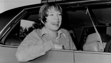 Shirley MacLaine arriving in Sydney for her concert tour in 1979.