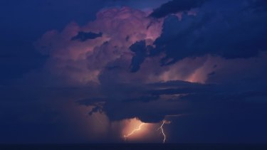 A storm off the Central Coast .