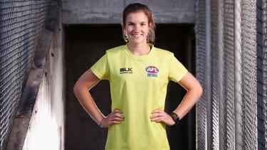 AFL umpire Annie Mirabile.