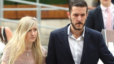 The parents of critically ill baby Charlie Gard, Connie Yates and Chris Gard arrive at the Royal Courts of Justice in London, on Thursday.