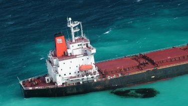 Shen Neng 1, a Chinese-registered bulk coal carrier grounded in the Great Barrier Reef Marine Park. It veered off course into the restricted area in 2010.