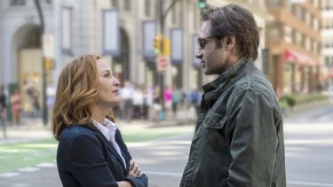 Truth seekers ... Gillian Anderson and David Duchovny in the new X-Files.