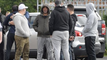Mourners gather at Preston mosque on Friday for the funeral of Anwar Teriaki.