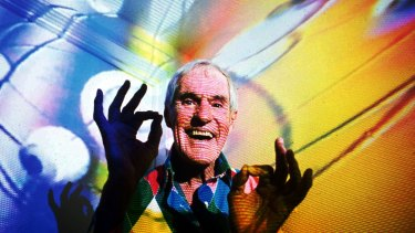 The late Timothy Leary, the former LSD experimenter, photographed at his California home in 1992.