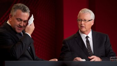 The impartiality of Q&A host Tony Jones, pictured with Treasurer Joe Hockey, will be examined in the review of the ABC program.