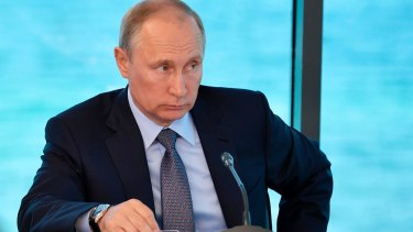 Russian President Vladimir Putin has issued a veiled critique of the United States and President Donald Trump's rhetoric over North Korea.