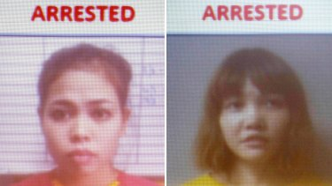 Suspects Siti Aisyah, left, and Doan Thi Huong.