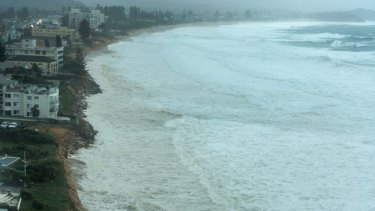 Widespread erosion at Narrabeen on Sunday morning.