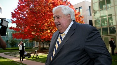 Clive Palmer has distanced himself from job losses at his nickel refinery.