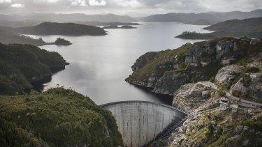 Hydro Tasmania's Gordon Dam - when Lake Gordon was full.