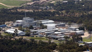 The Lucas Heights nuclear reactor site in Sydney.