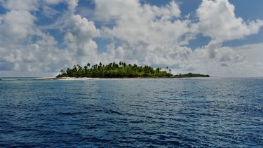 Much of the Kiribati Islands is only a few meters above sea level.
