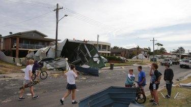 Storm damage at Kurnell