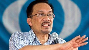 Malaysia's former deputy prime minister Anwar Ibrahim.