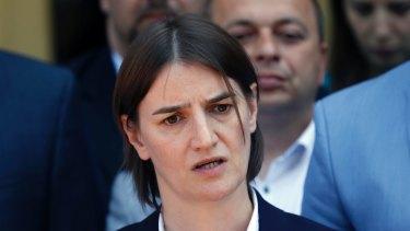 Ana Brnabic, nominated as Serbia's prime minister-designate.