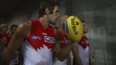 SYDNEY, AUSTRALIA - SEPTEMBER 19:  Josh Kennedy of the Swans walks out during the First AFL Semi Final match between the Sydney Swans and the North Melbourne Kangaroos at ANZ Stadium on September 19, 2015 in Sydney, Australia.  (Photo by Ryan Pierse/Getty Images)