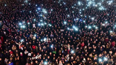 Thousands of people gather in Toulouse on to show their solidarity for the victims of the Paris attack.