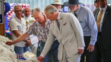 Prince Charles and the Duchess of Cornwall toured the Albany Agricultural Show in 2012.