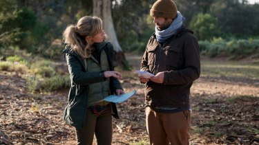 Co-directors Yolanda Ramke, who also wrote the screenplay, and Ben Howling on set in South Australia.