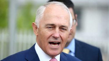 """Mr Turnbull told reporters on Thursday Mr Shorten """"is a complete hypocrite""""."""