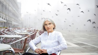 Donna Leon in Venice, where her crime novels are set.