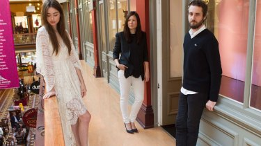 Designers Nic Briand and Susien Chong (centre) have found a savior for their Lover brand in the Gazal brothers' Hot Springs fashion business.