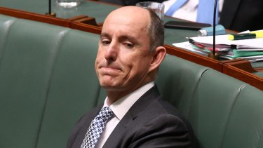 Coalition MP Stuart Robert's links to the company have come under scrutiny.