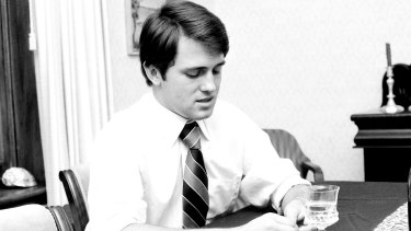 Malcolm in 1977 when it was announced he was the receipient of the NSW Rhodes Scholarship.