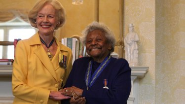 Revered: Australian Governor General Quentin Bryce presents Faith Bandler with the Order of Australia. in 2009.