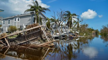 Damaged homes near Marathon, Florida on Tuesday, in the aftermath of Hurricane Irma.