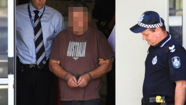 Richard Thorburn in police custody, before his collapse.