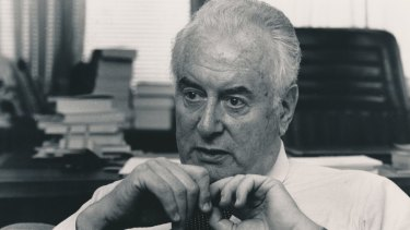 Not without his critics: Gough Whitlam pictured in 1986.