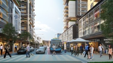 Artist's impression of Bankstown, post-development.