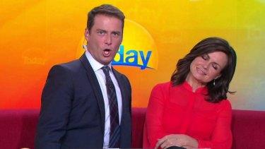 <i>Today Show</i> hosts Karl Stefanovic and Lisa Wilkinson.