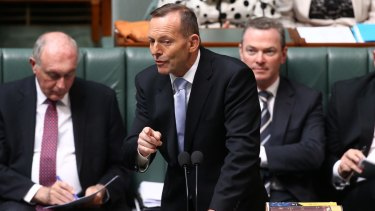 Prime Minister Tony Abbott accused Labor of wanting house prices to fall during question time on Tuesday.