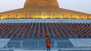 Wat Dhammakaya, Thailand's largest temple, during quieter times.
