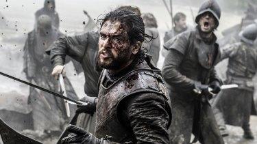 Jon Snow (Kit Harington) in the thick of battle.