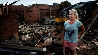 Counting the cost: Jane Derijcke (pictured) and partner Shane Smart were one of the worst affected by the fire in Hastings on Saturday.