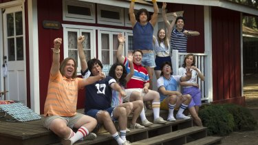 The cast of Netflix's <i>Wet Hot American Summer</i>: Netflix has scored 1.5 million followers since it entered the Australian market, says ABC.