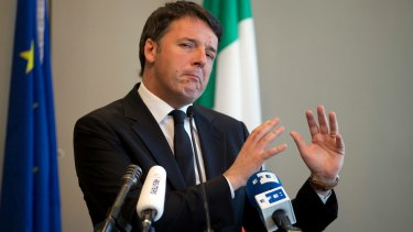 Former Italian PM and leader of the Democratic Party Matteo Renzi.