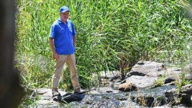 Riverkeeper John Forrester at the Werribee River.