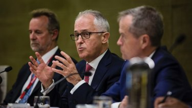 Prime Minister Malcolm Turnbull speaks at a meeting of the Indigenous Referendum Council in Sydney.
