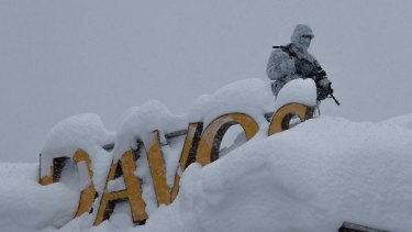 Security is tight in Davos.