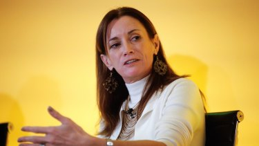 """Blythe Masters, CEO of Digital Asset Holdings: """"Firms are under enormous pressure to radically rethink business model, and we are not talking about shaving 5, 10 or 15 per cent off the cost base.... We are talking about shaving 50, 60, 70 per cent out of cost bases…"""" she said."""