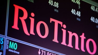 Mining company Rio Tinto is presenting to investors in Sydney on Monday.