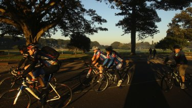 The cycleways at Centennial Park are a popular choice.